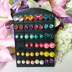 Jewelry - Colorful Variety Earrings 4 pair for $8